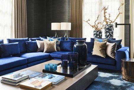 Blauwe Design Bank.Home Eric Kuster Metropolitan Luxury