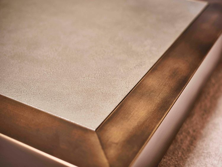 Detail Legian Coffee Table (Brass Metal with Bronze Patina)
